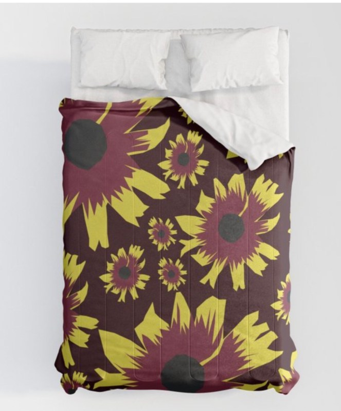 Black-Eyed Susan Love Comforter designed by Visual Artist Keara Douglas of Delux Designs (DE), LLC