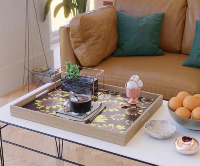 Black-Eyed Susan Love Serving Tray designed by Visual Artist Keara Douglas of Delux Designs (DE), LLC