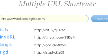 Create A Multiple URL Shortener Page
