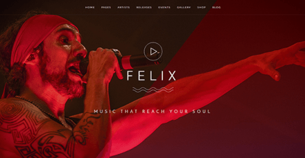 Felix - WordPress music theme