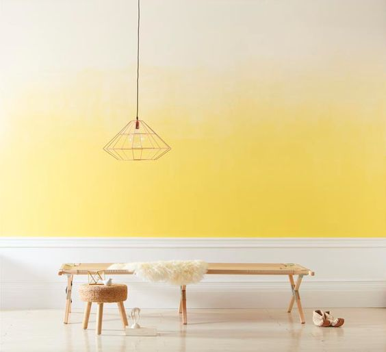 Yellow Ombre wall paint