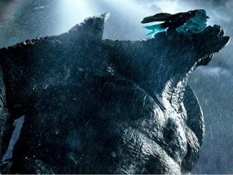 giant monster in blue sky