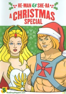 """The Santa hat is actually a better disguise than his usual """"He-man but in a pink blouse"""" one."""