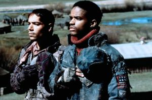 Kevin Costner and Larenz Tate - movie review The Postman (1997)