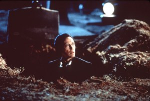 Sure, this is wrong...but are YOU going to tell Christopher Walken to get out of the grave? Didn't think so.