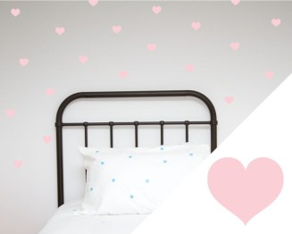 Wall Stickers Large Hearts from ShutTheFrontDoor $39.99