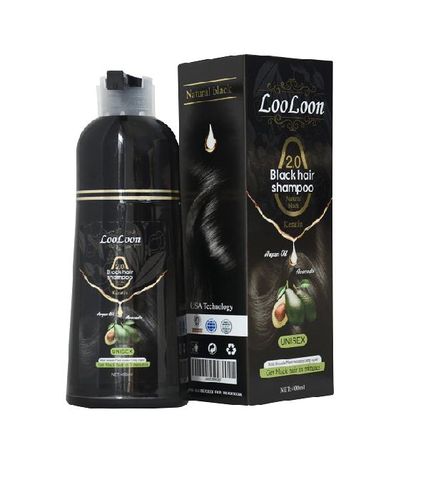 Black hair dye shampoo