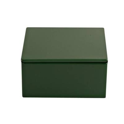 vierkant blikje donker groen