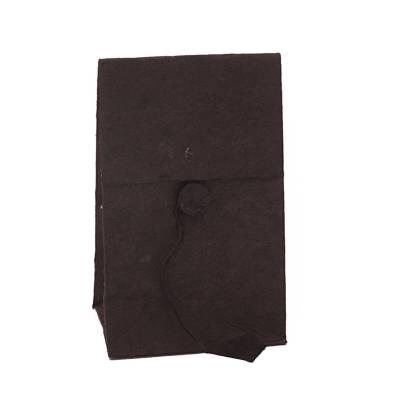 laag zakje lokta knoopje zwart