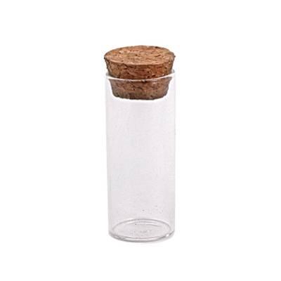 Tube glas met kurk