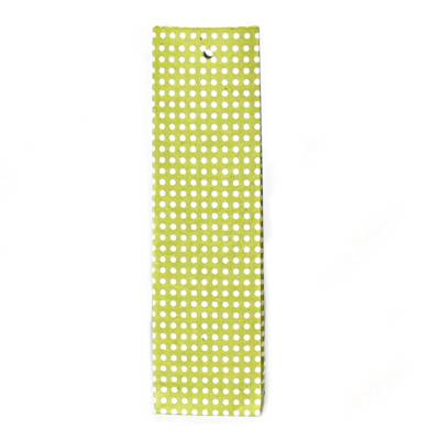 hoog zakje lokta stipjes lemon green