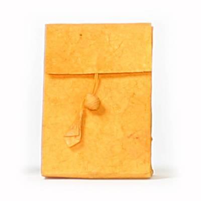 laag zakje lokta knoopje oranje