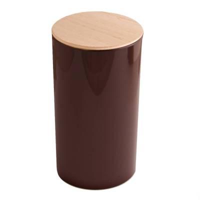 rond hoog hout bruin