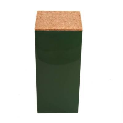 vierkant hoog kurk donker groen