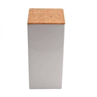 vierkant hoog kurk zilver