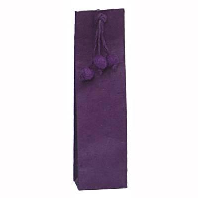 hoog zakje lokta pompon violet