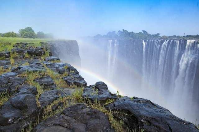 African Waterfalls Victoria rainbow