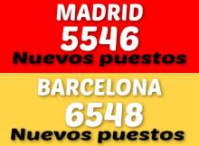 Más de 12.000 nuevos puestos de empleos fueran publicados entre Madrid y Barcelona