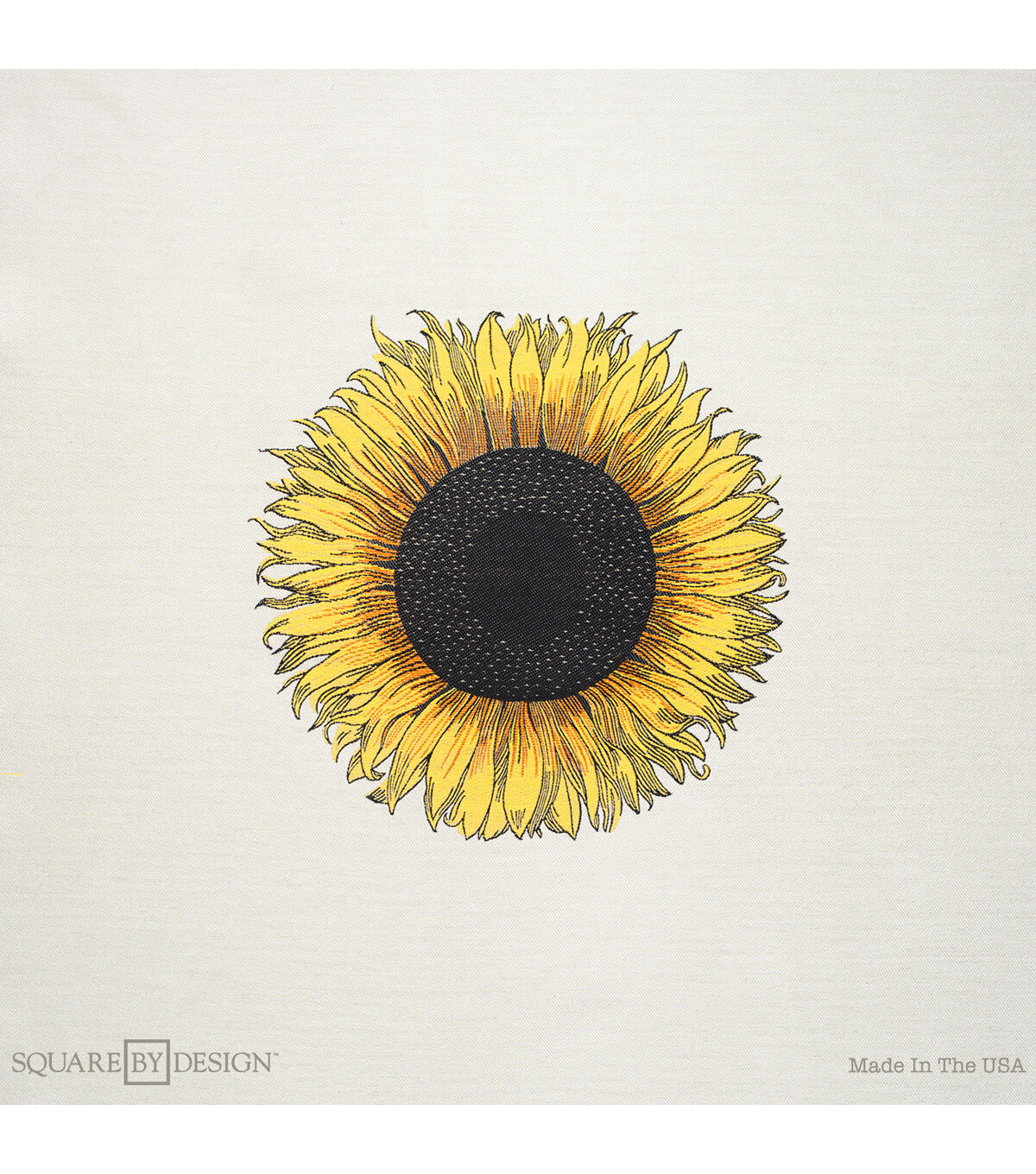 Square By Design�-Sunflower 25inches Woven Square