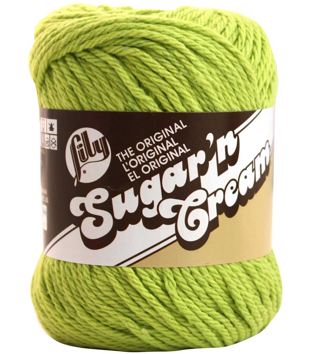Lily Sugarn Cream Solids Yarn