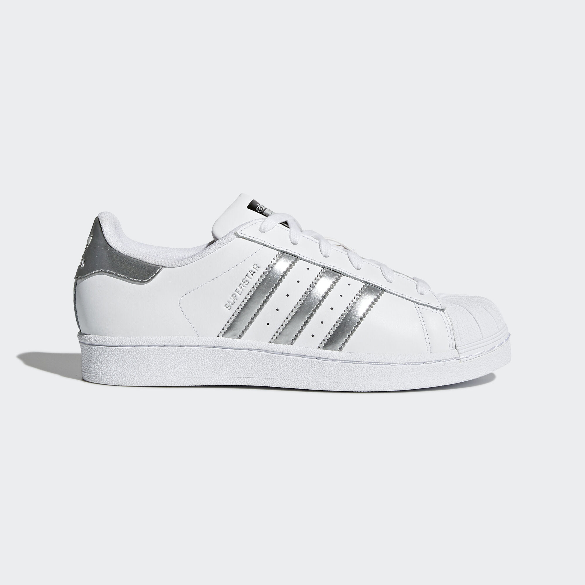 adidas - Chaussure Superstar White/Silver Metallic/Core Black AQ3091