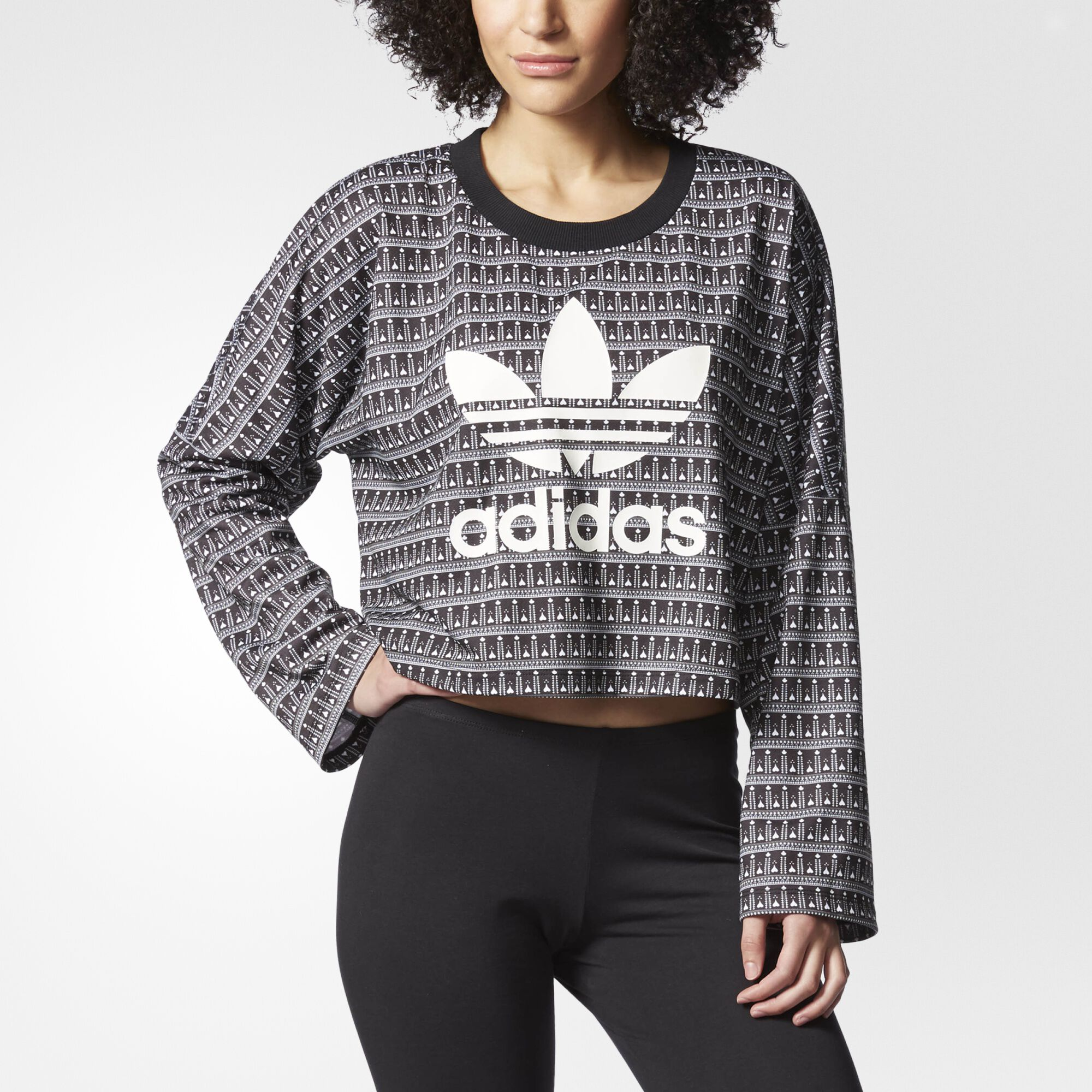 adidas - Pavao Crop Sweatshirt Multicolor AY6879