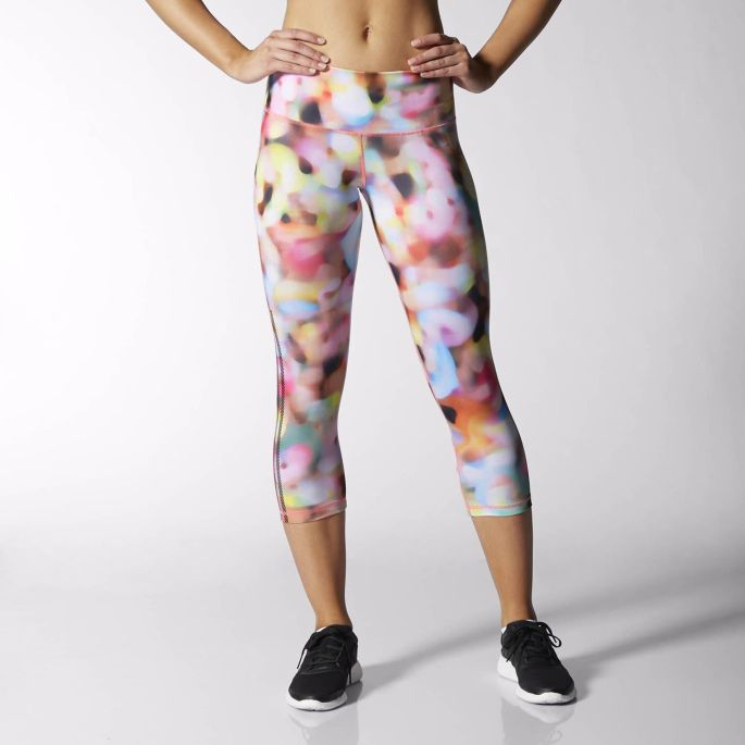 adidas Performer Mid-Rise 3/4 Print Tights Multicolor