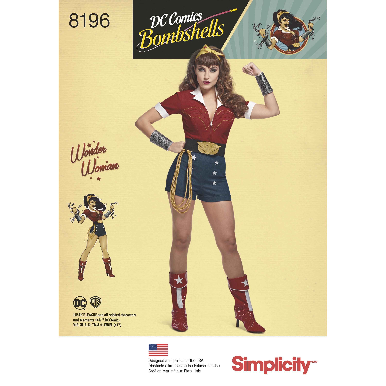 Pattern 8196 Misses' D.C. Comics Bombshells Wonder Woman Costume