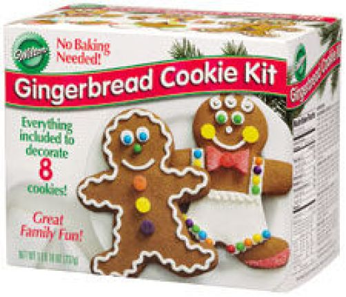 Deluxe Gingerbread Kit Tree Boy Cookie Decorating Mini Village Gingerpops