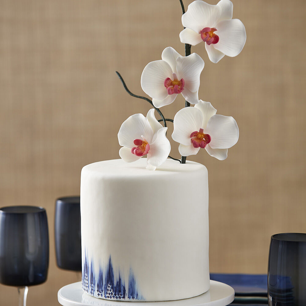 Exotic Painted Orchid Cake Wilton