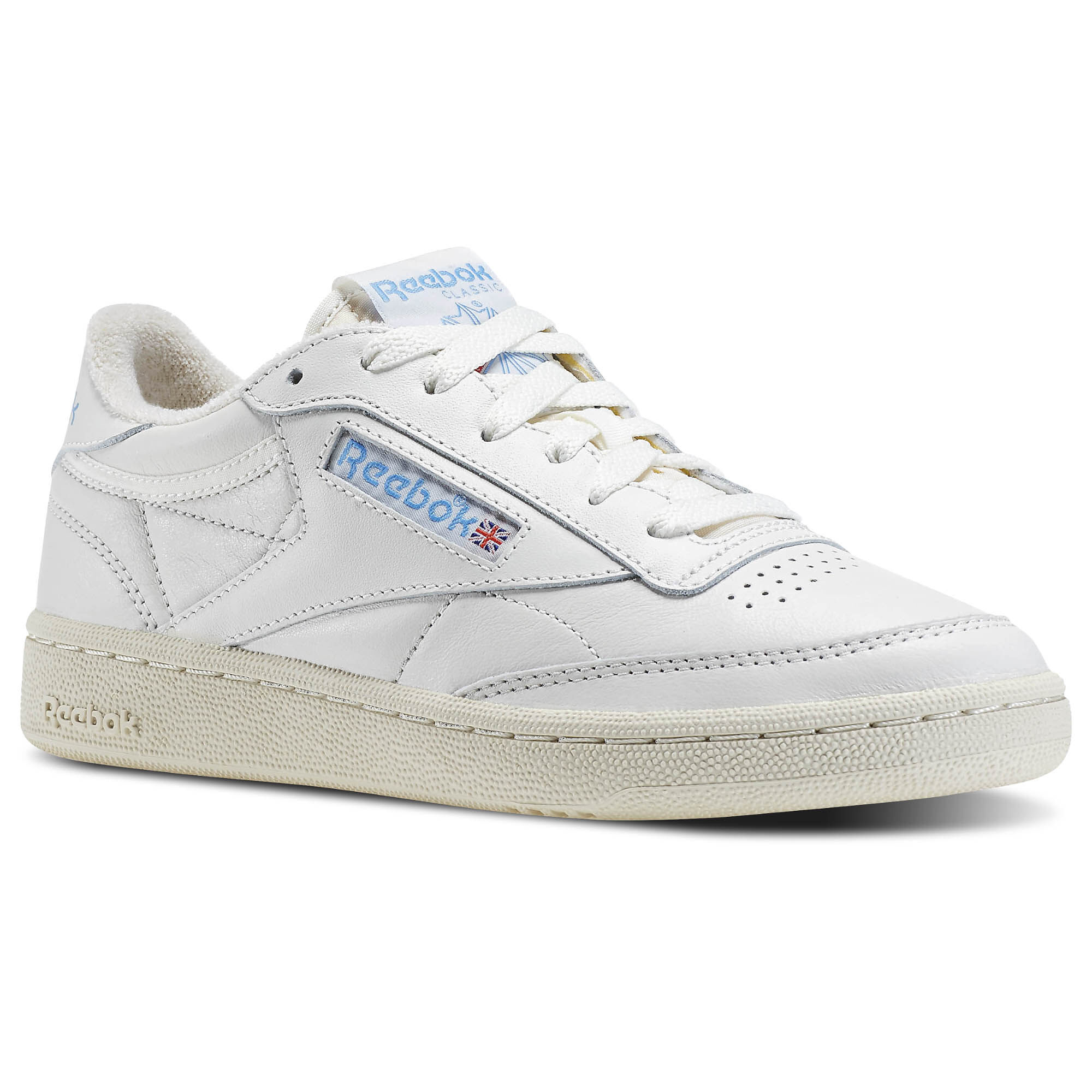 Reebok - Club C 85 Vintage Chalk/Paperwhite/Athletic Blue/Excellent Red V69406