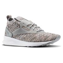 Reebok Womens ZOKU RUNNER Ultraknit HTRD in Flat Grey / Medium Grey / Patina Pink / White Size 7 - Casual Shoes