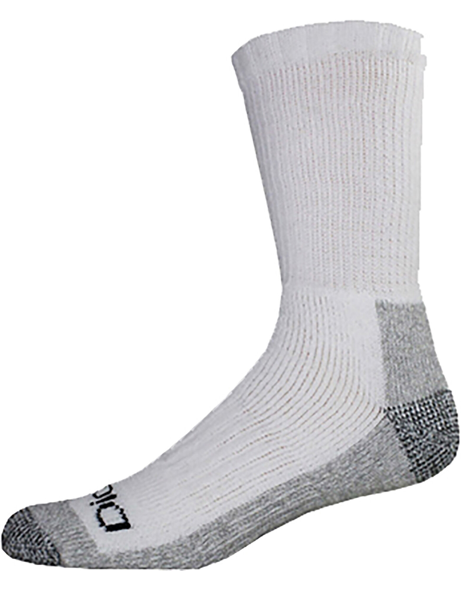 White Acrylic Mens Crew Socks