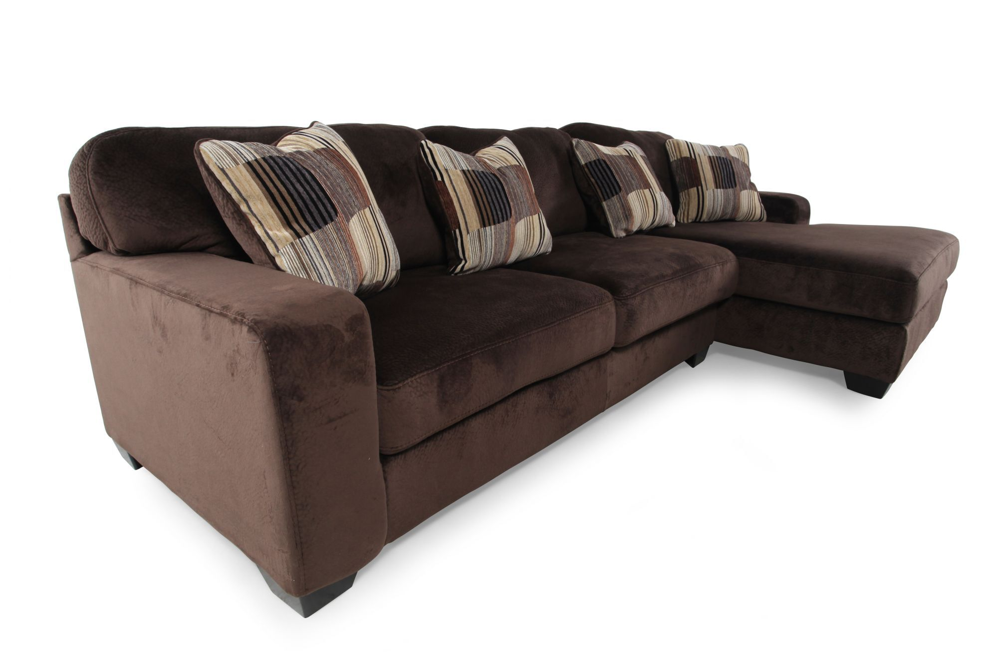 Ashley Westen Chocolate Sectional Mathis Brothers Furniture