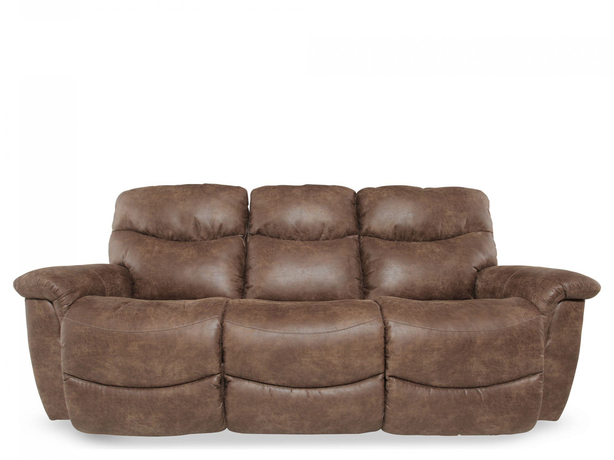 La Z Boy James Silt Performance Leather Power Sofa Mathis Brothers Furniture