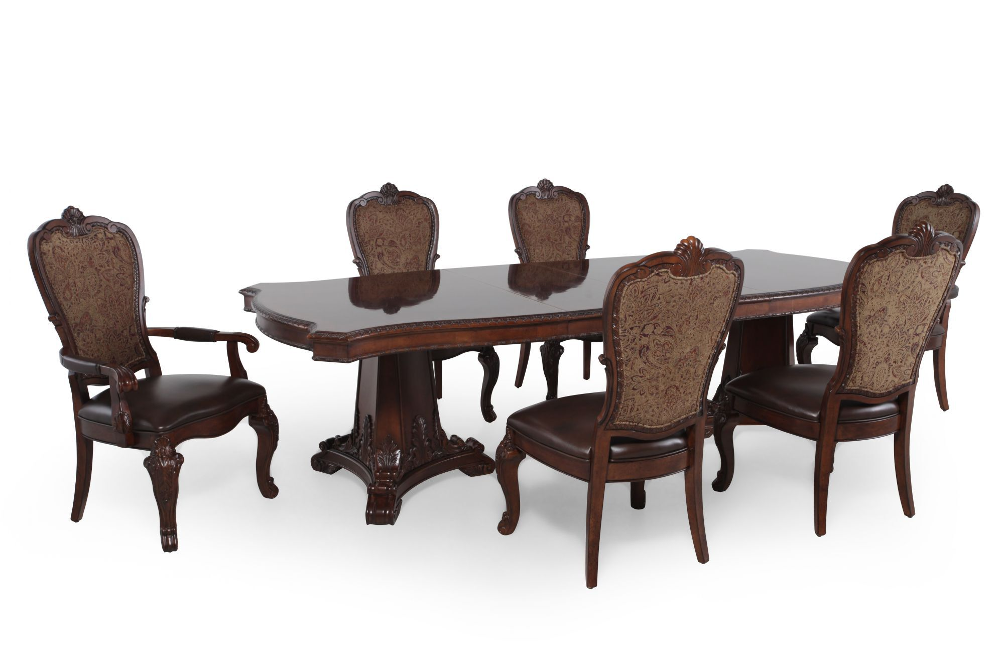 A.R.T. Furniture Seven-Piece Old World Pedestal Table