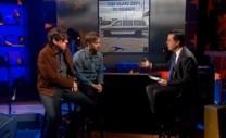 Dan y Patrick visitaron los estudios de 'The Colbert Report' durante la promoción del disco