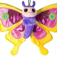Wild Republic - Peluche mariposa Sweet & Sassy, 38 cm, color amarillo (17568)