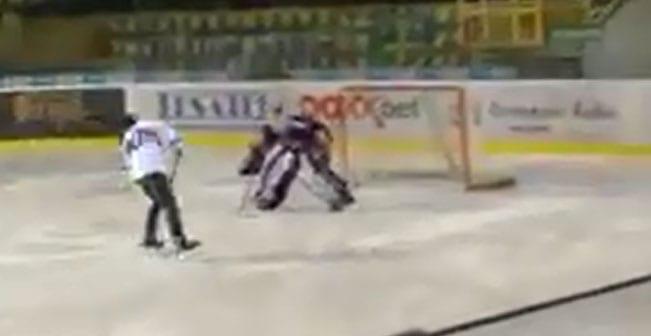 Sagan caída hockey