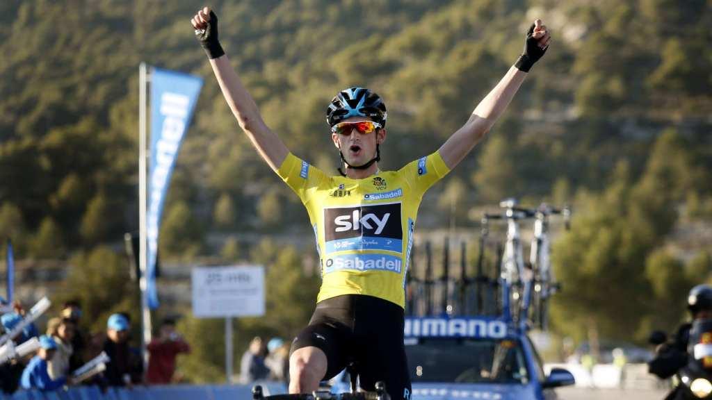 Poels ganando la Volta a la Comunitat Valenciana