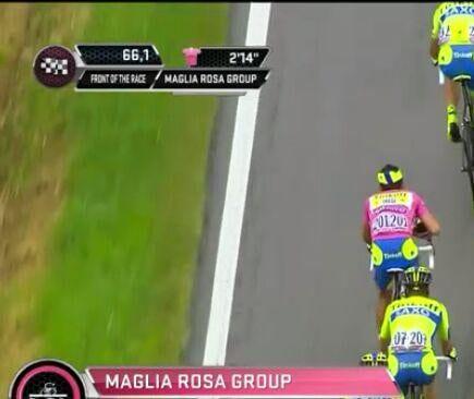Contador, con gorra en el Giro de Italia