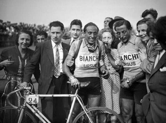 Serse Coppi y Fausto Coppi en la París - Roubaix de 1949