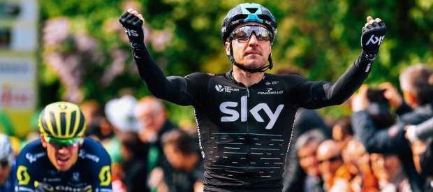 Elia Viviani gana en el Tour de Romandía