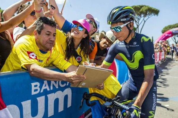 Nairo Quintana en el Giro de Italia