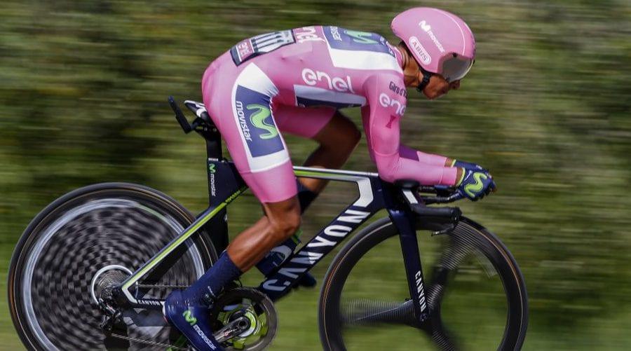 Nairo Quintana en la crono del Giro de Italia