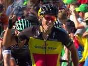 Gilbert ganando en el Tour de Suiza