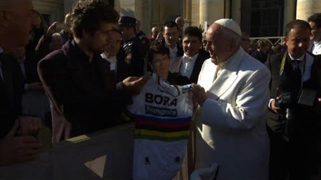 Peter Sagan y el Papa Francisco
