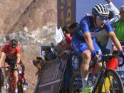 Elia Viviani en la 4ª etapa del Dubái Tour