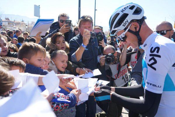Chris Froome en la Vuelta a Andalucía