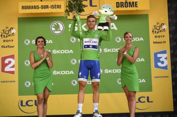 Marcel Kittel en el podio del Tour de Francia